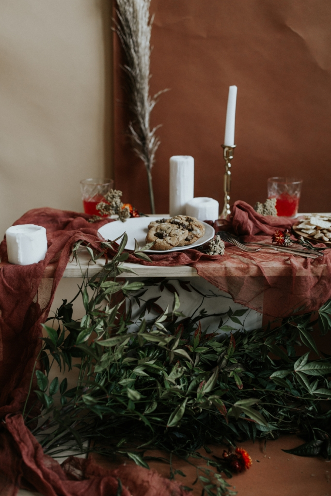 Live Botanical Fall Tablescape Content Creation 23