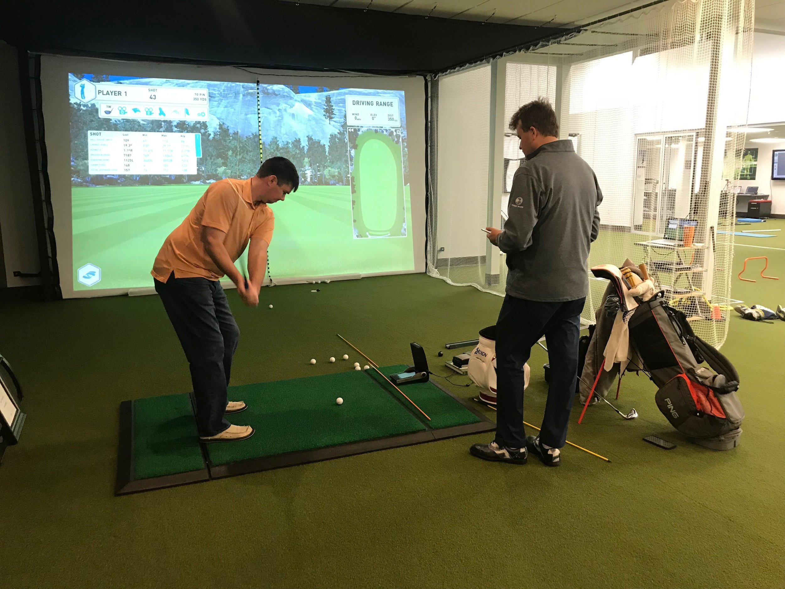 Indoor Instruction - Whether It is too hot or too cold, come indoors with me to this state of the art facility equipped with a Foresight Launch Monitor, exercise equipment, and even 3-d analysis of your swing!