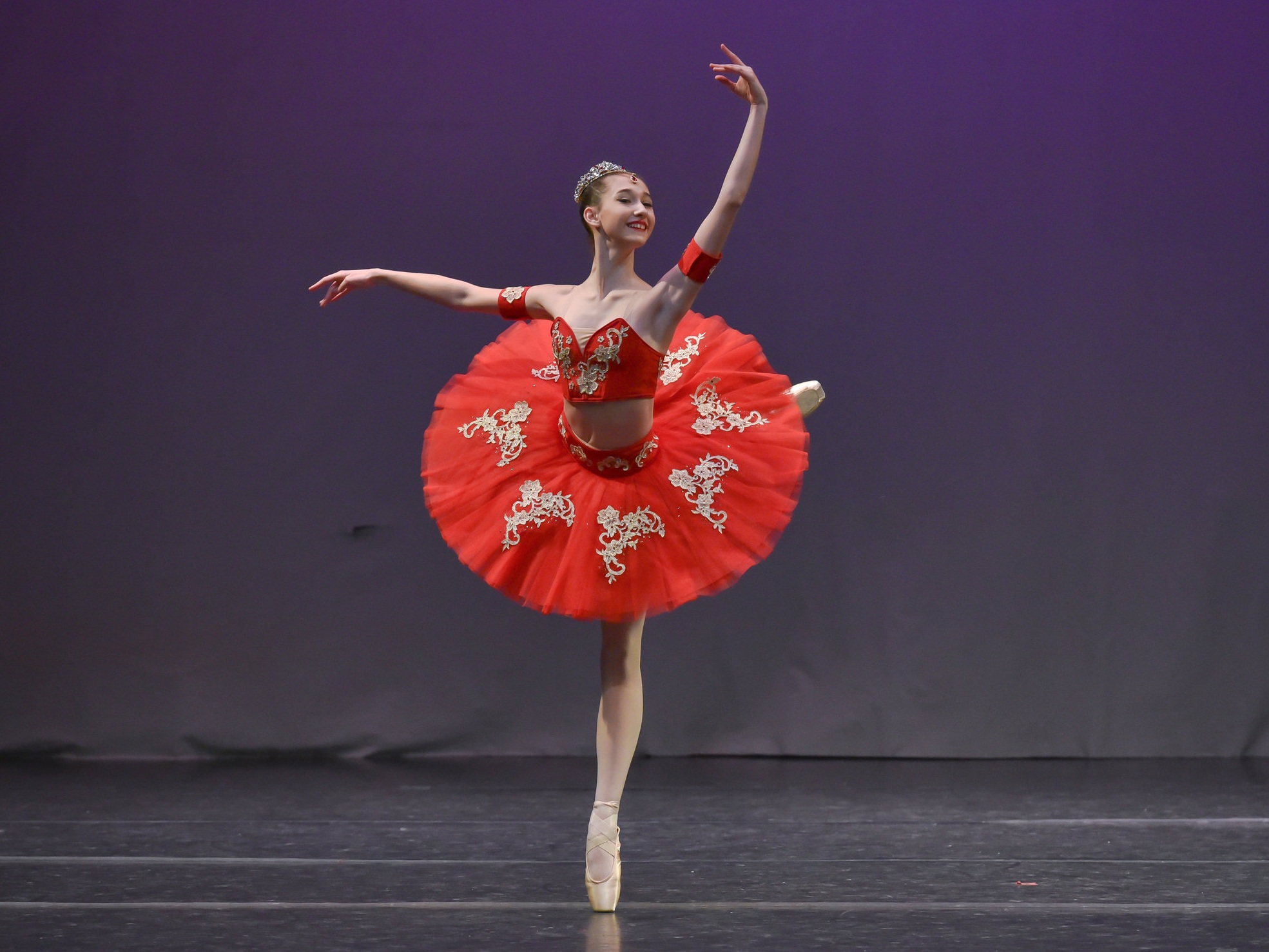 Mackenzie Kirsch is the first dancer from San Antonio to be selected to compete in the prestigious Prix de Lausanne competition in 2019. She was also one of only 10 American dancers to be selected. In addition, she and DCSA dancer Lucy Hassmann were personally invited to compete in the Vaganova Prix in 2018. Mackenzie has also been awarded 1st place in Classical categories at YAGP regional competitions.