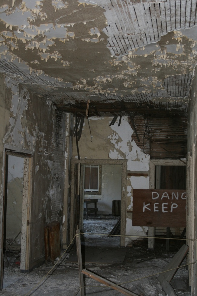 In the old hospital before the renovation, the inner walls were black. (Buck Gee for the picture)