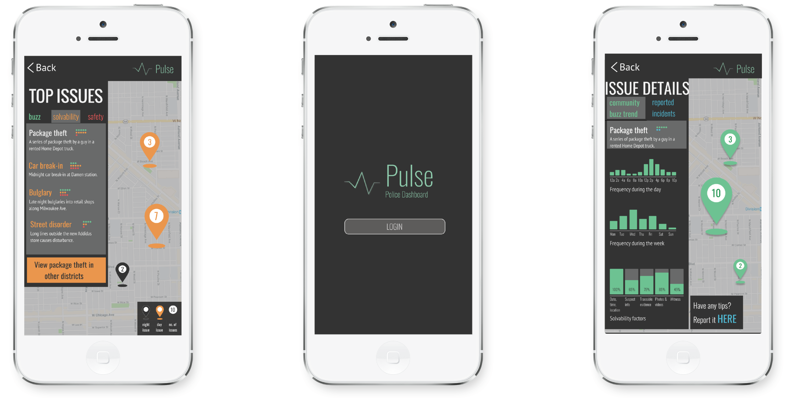 "Interaction demo, to check it out on your own cell device, text ""policedemo"" to 312.488.1992"