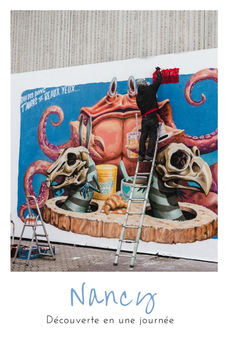 Découverte du patrimoine et Street Art en une journée à Nancy !