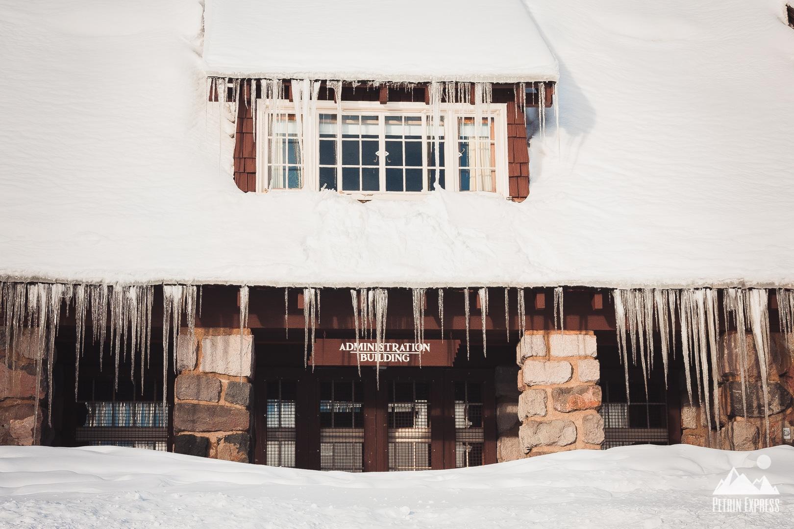 Voilà à quoi ressemblait le Visitor Center de Crater Lake quand nous y sommes allés.