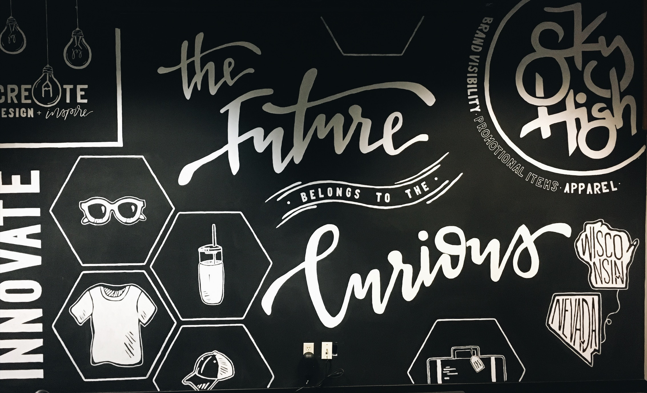 / wall mural for local marketing firm /