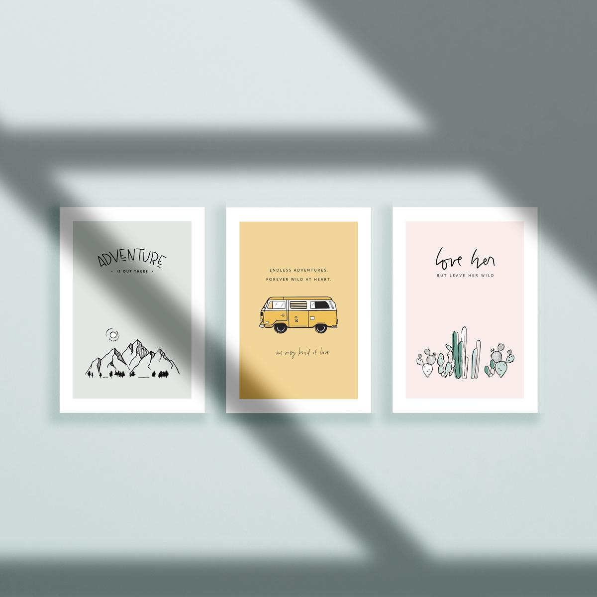 / series of art prints /