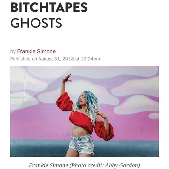 """Thank you for giving me the space to share my feels n some of my fav artists rn @bitchmedia ⚡️⚡️⚡️ love y'all so much! FAM! Go peep the playlist I got to curate n gab about called """"Ghosts"""" for @bitchmedia 👻 ft @dojacat @lizzobeeating @hayleykiyoko @majoracerridwen @janellemonae to name a feewww!! You can find it in print📰, on @spotify and Bitch's site! 📸 @abbygord0n . . . #wearelovewarriors #lovewarrior #bitchmedia #bitchtapes #bitchmagazine #bitchmag #frankiesimonemusic #newplaylist #newspotifyplaylist #queermusic  #popmusic #queerpop #lgbtqia #queermusician #queerpower #highpriestessofpop #queerasfuck #loveislove #portlandmusic #pdxmusic #emergingartist #love #lgbtq"""