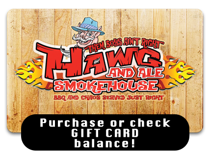 Get a Hawg & Ale GIFT CARD!
