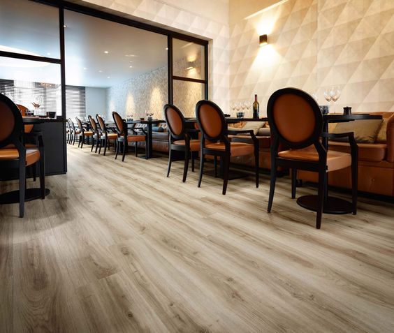Vinyl - Vinyl floorsare a popular option among homeowners, particularly in kitchen and bathroom applications. A synthetic cousin of linoleum,vinyl flooring is water-and stain-resistant, versatile, and provides good durability for the cost.