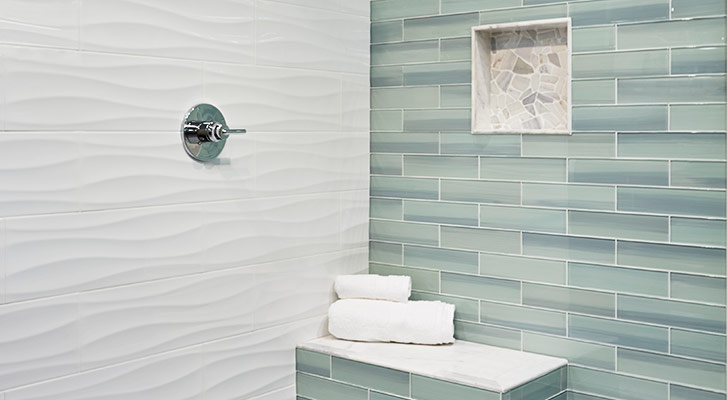ceramic wall tile (sizes vary)