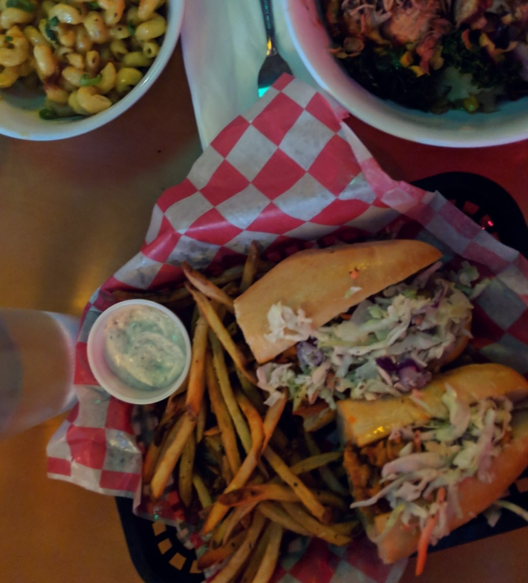 Of course I'll have fries with that Buffalo Po Boy!