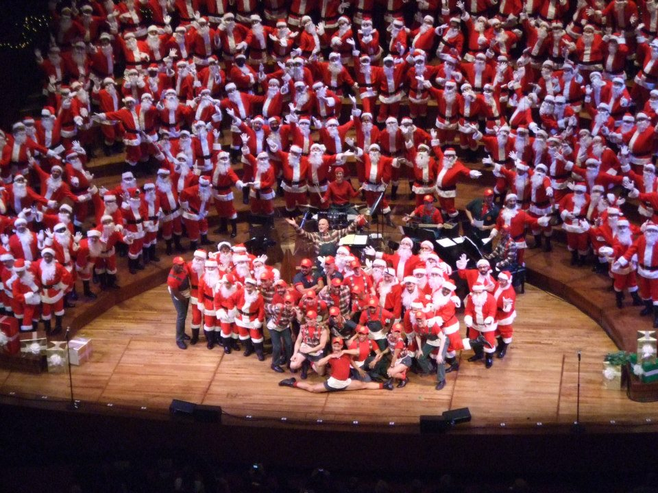 So many Santa's and so much SFGMC joy!
