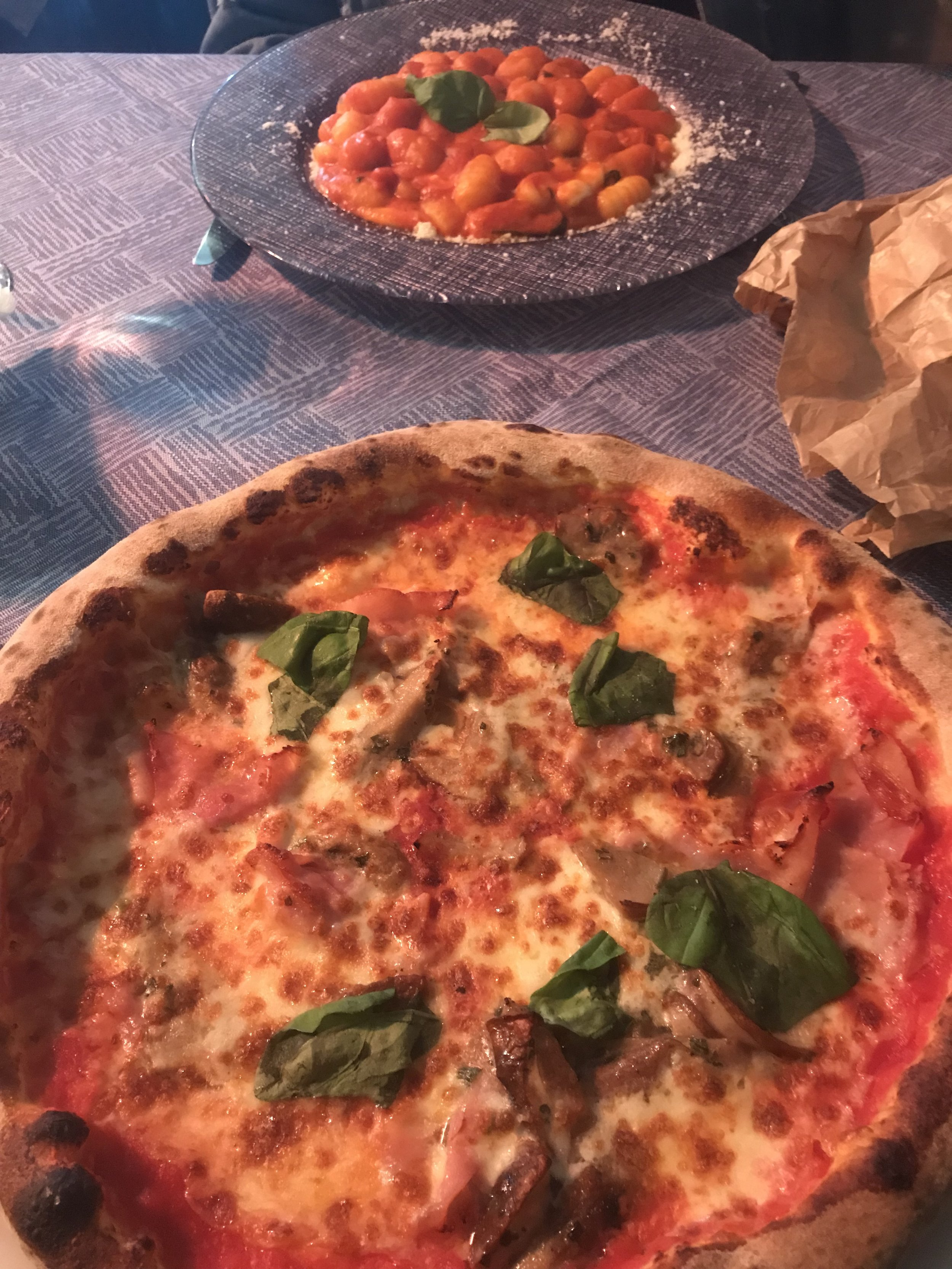 Sure the pizza looks good, but those gnocchi are no slouch either!