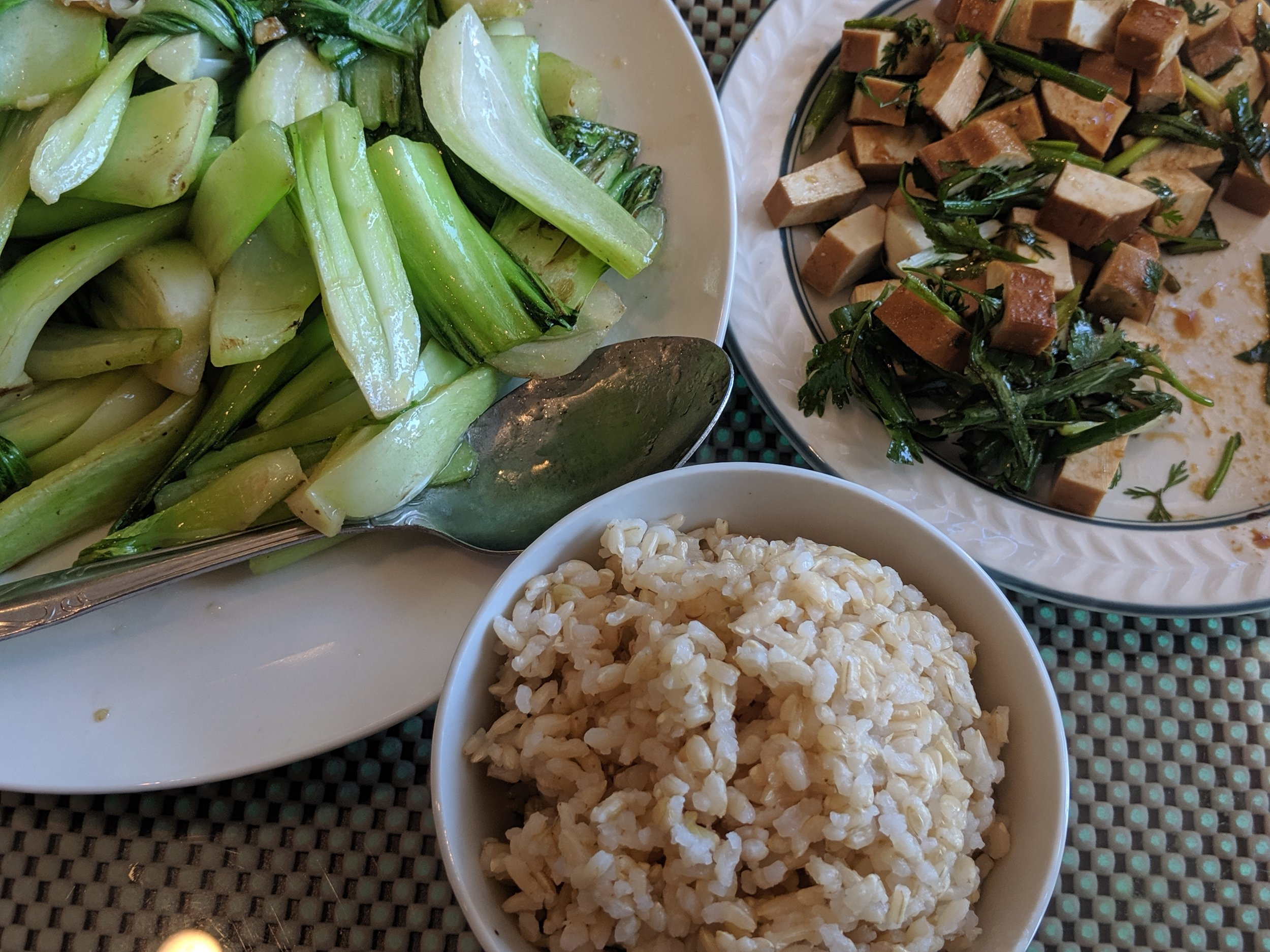 Although the tofu was the star, the bok choy was a very strong supporting player!