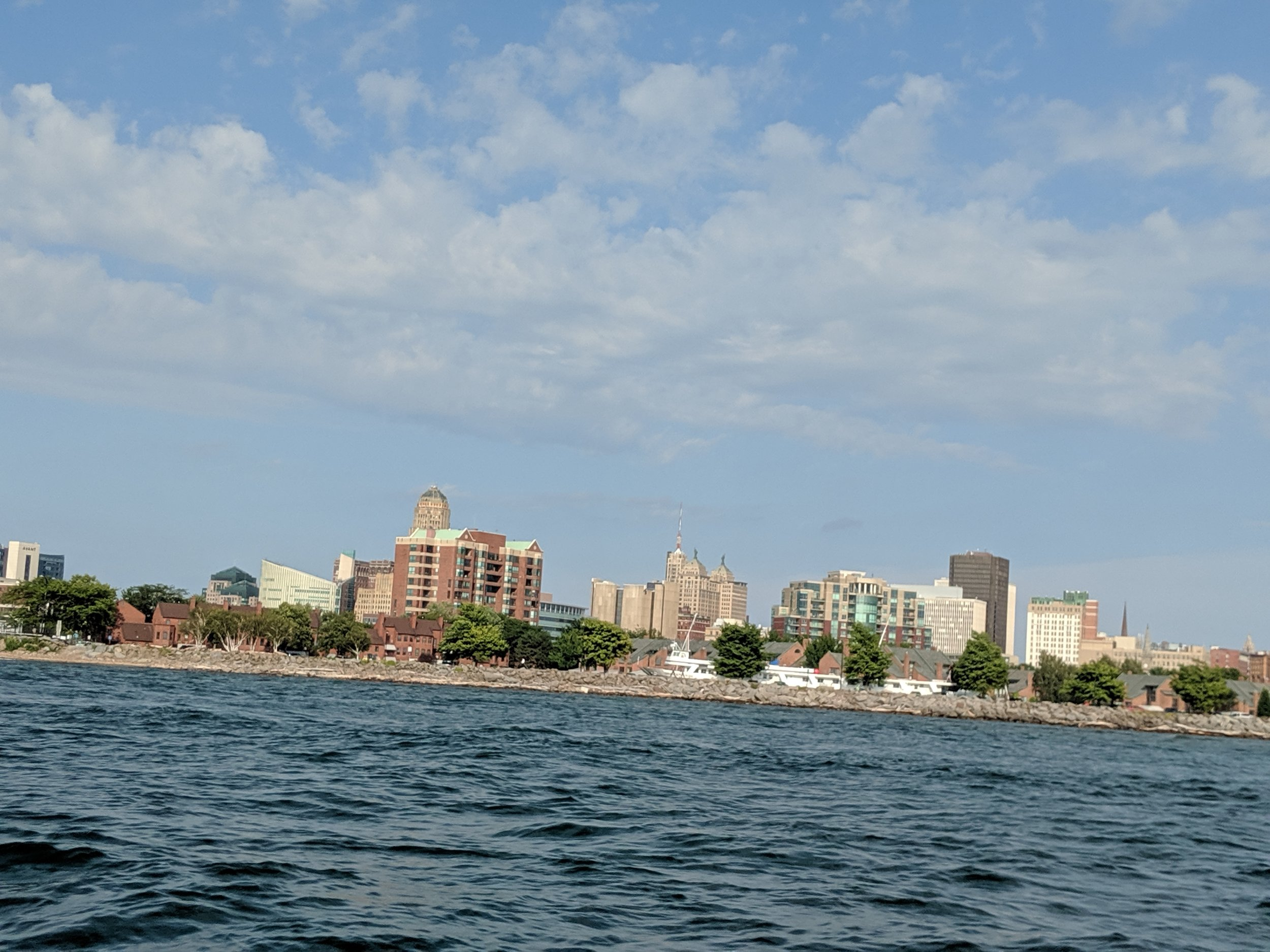 The Buffalo skyline as we sped by in a friends boat.