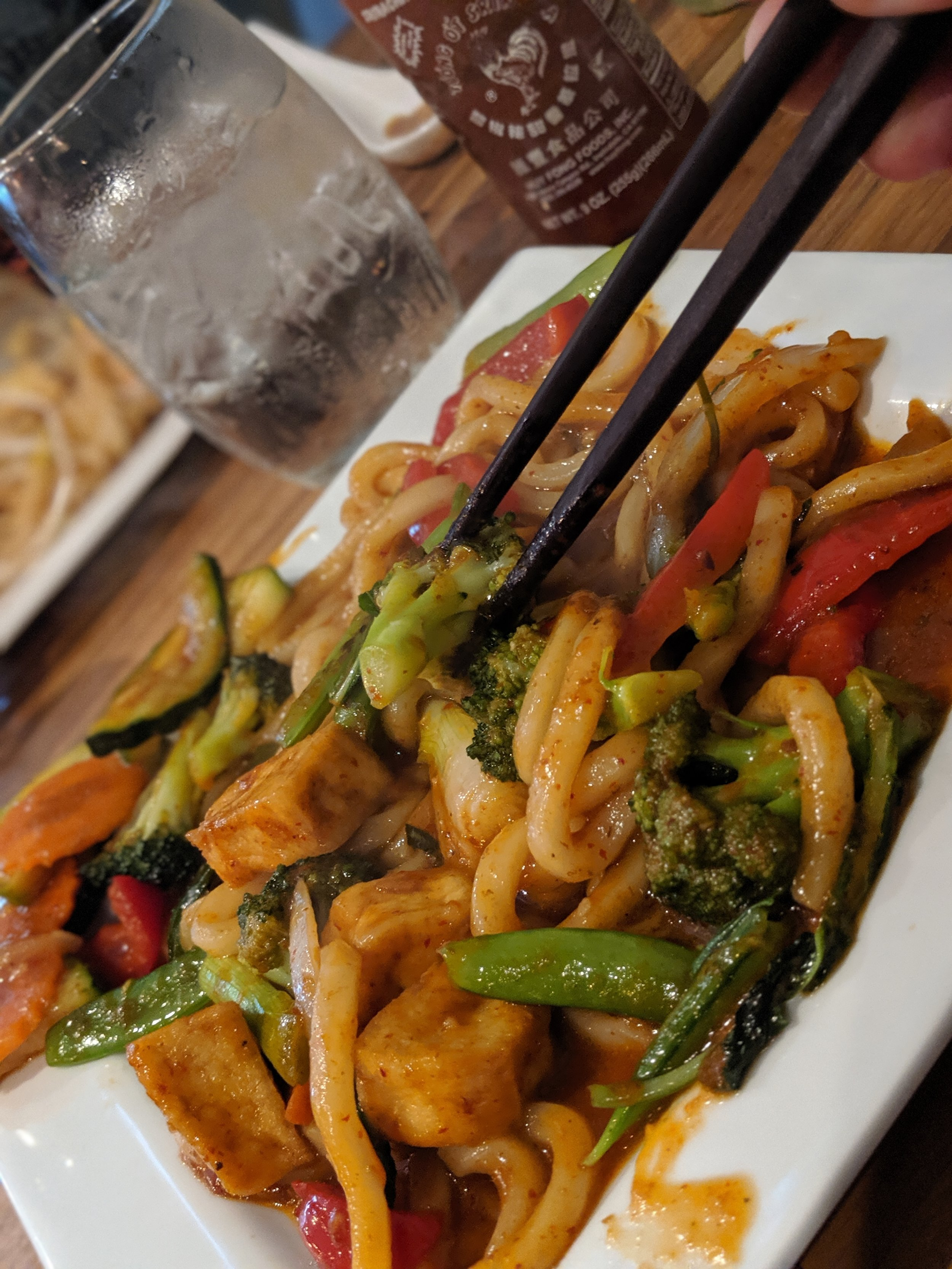 Rin Thai Bistro  on Elmwood is small, but these Fiery Udon noodles were hearty and spicy!