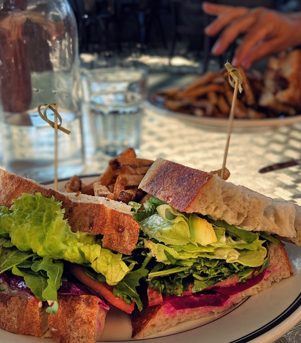 Nothing to see here, just a veg packed beet sandwich at  335 On The Ridge  in Ridgeway Ontario, and ya can't beet that!