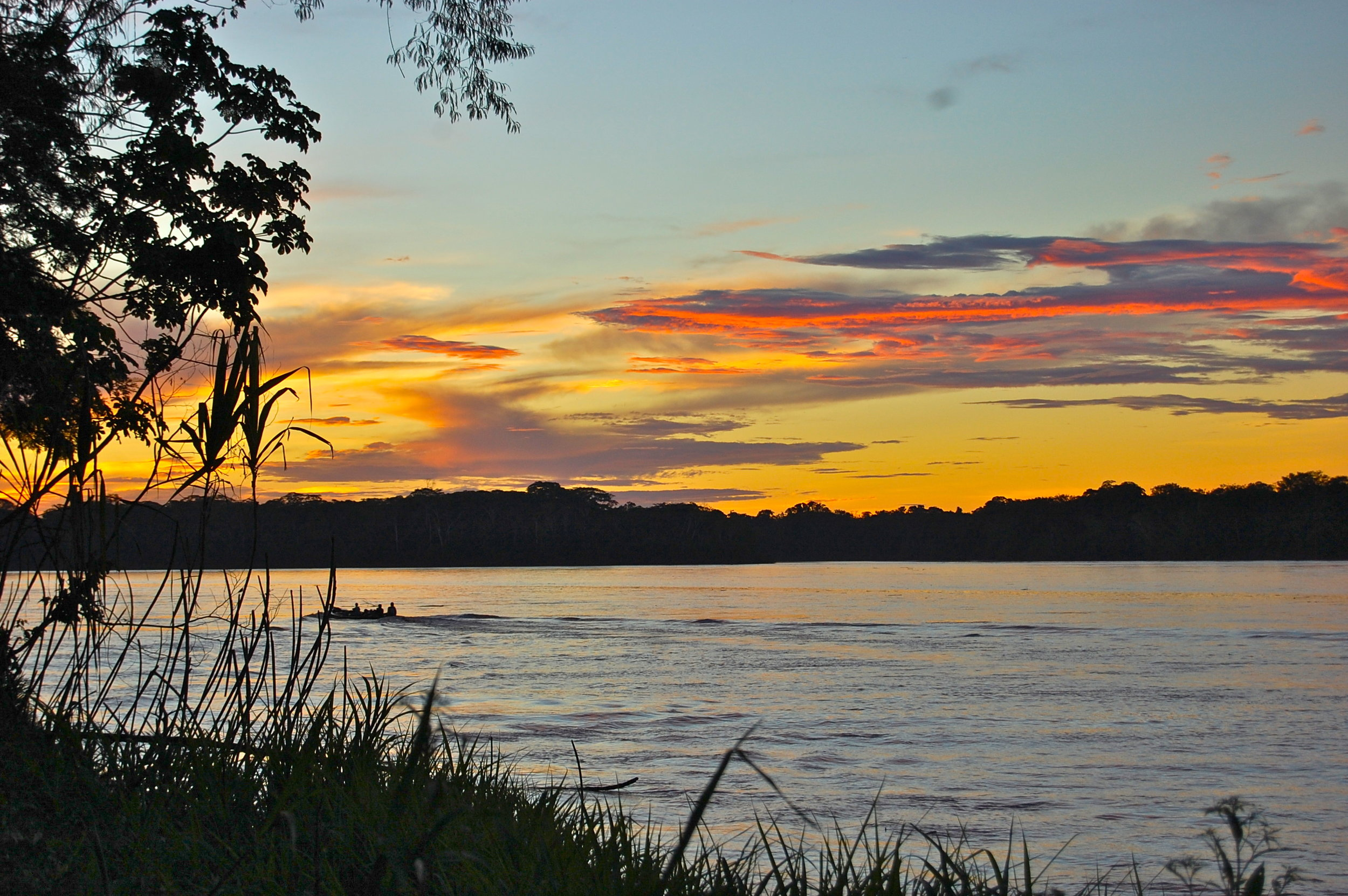 Sunsets on the Amazon River