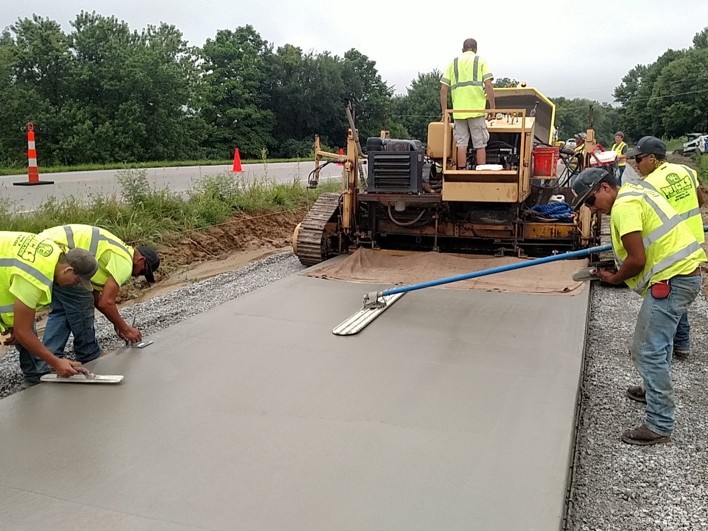 Specialty Work - Bike Trails, Decorative Retaining Walls, Stamped & Colored Concrete