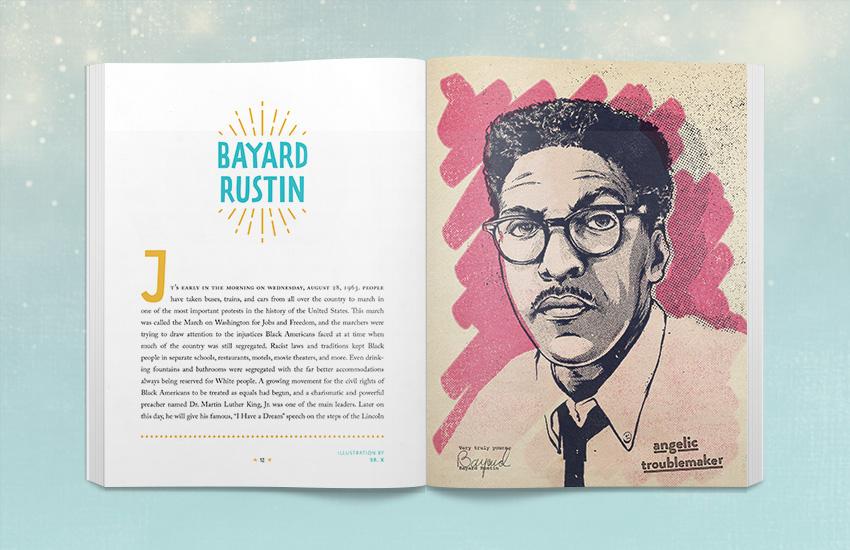 Book Spread - Bayard Rustin