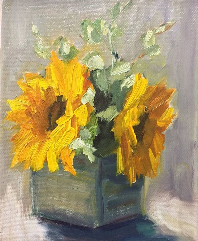 Sunflowers 🌻 #sunflower #art #oilpainting