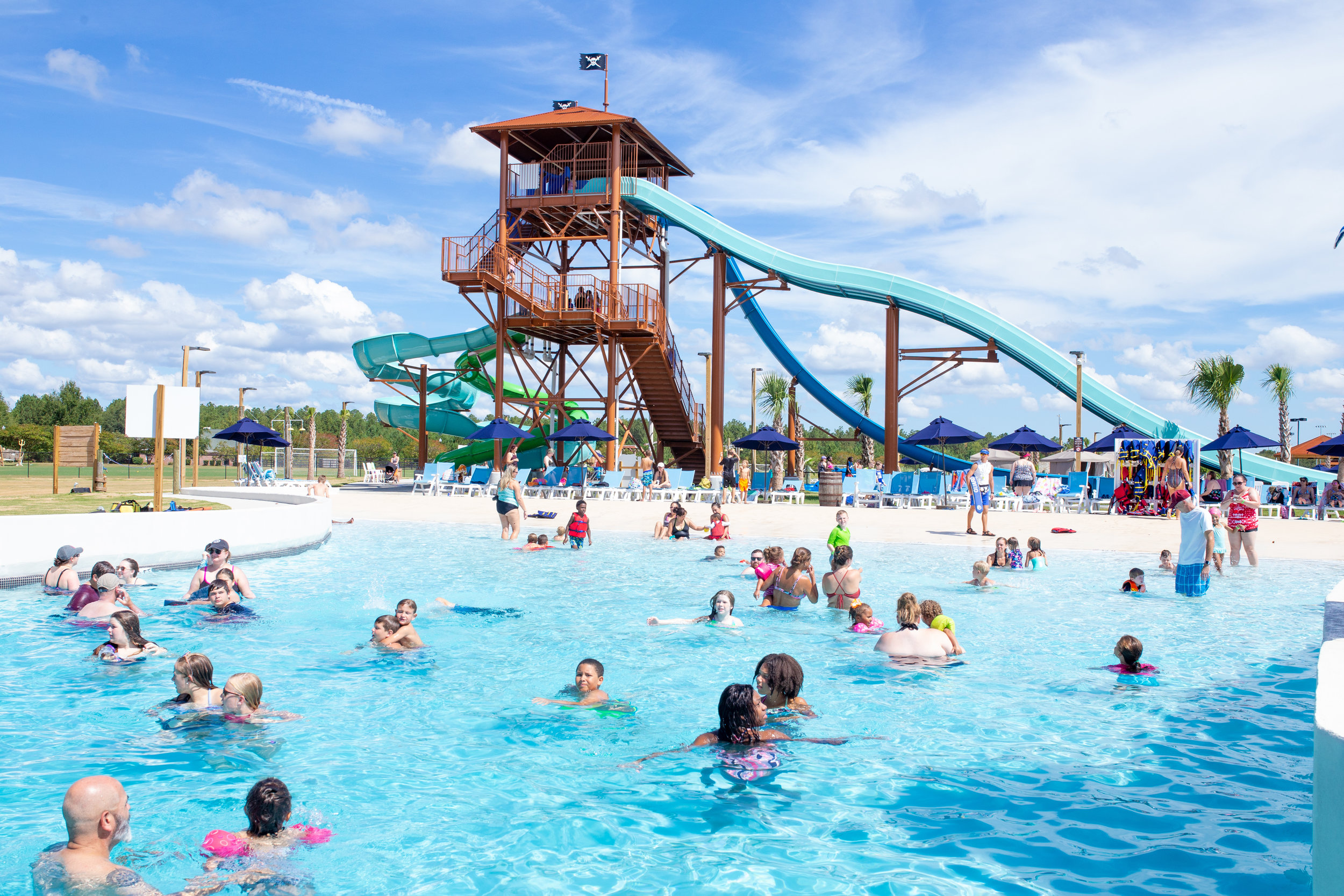 If you like to have fun in the sun, you're going to LOVE Neptune Island Waterpark! Complete with slides from mild to wild and lots of places to relax and lounge in the shade or in the sun. Plus, private cabanas are also available to rent for that special summer occasion. -