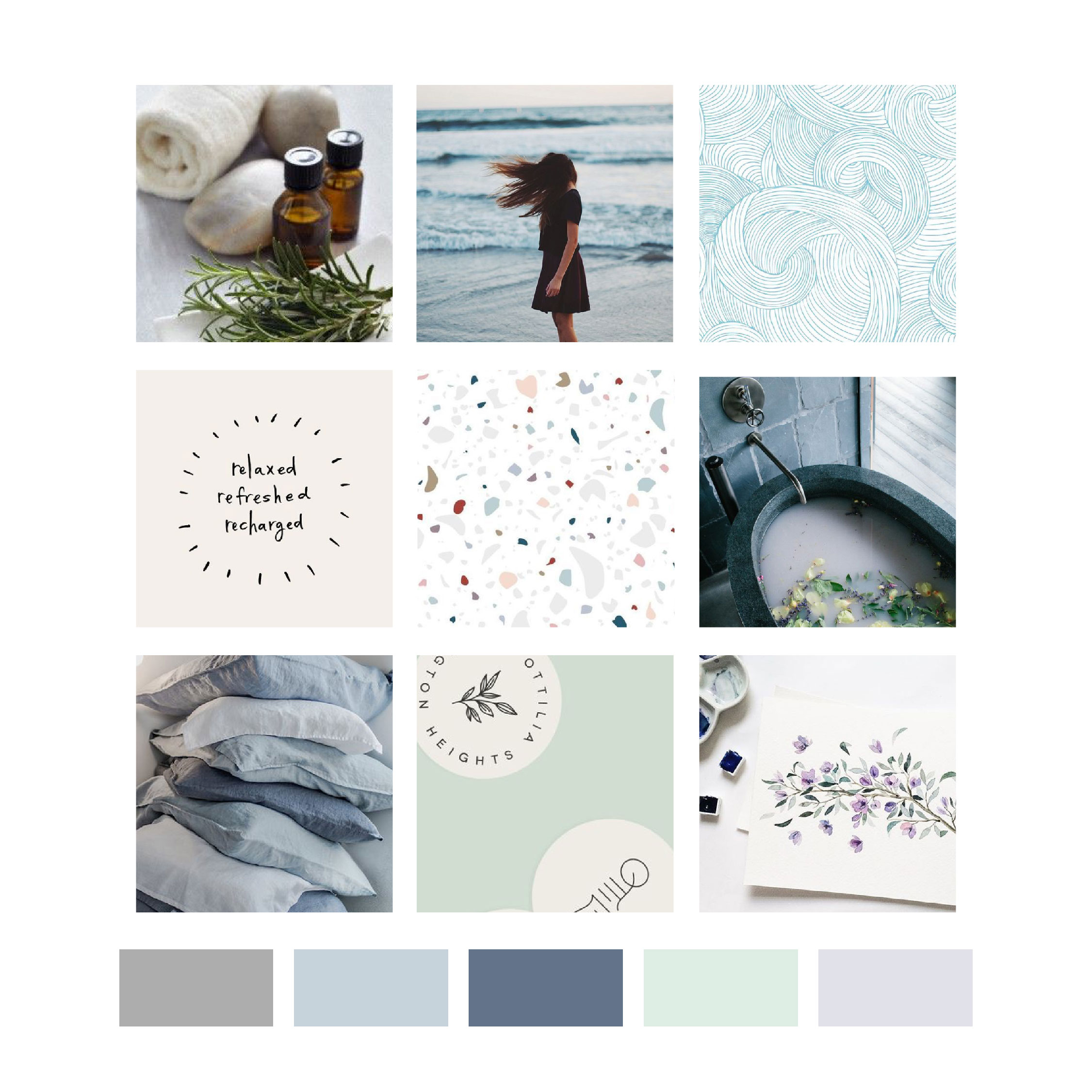The Houston Mompreneur's Retreat Brand Reveal and Color Palette by Kindly by Kelsea