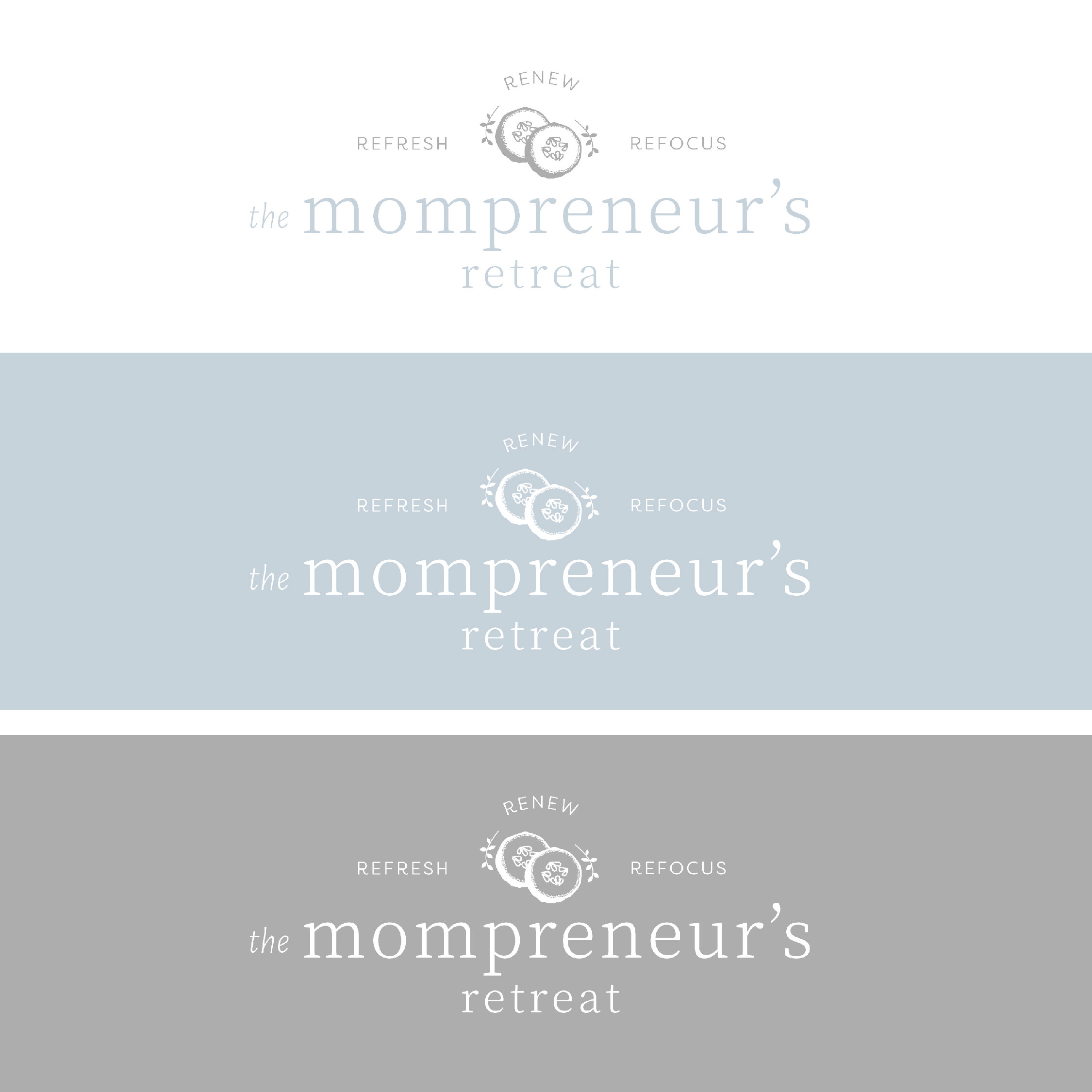 The Houston Mompreneur's Retreat Brand Reveal Logo Design by Kindly by Kelsea