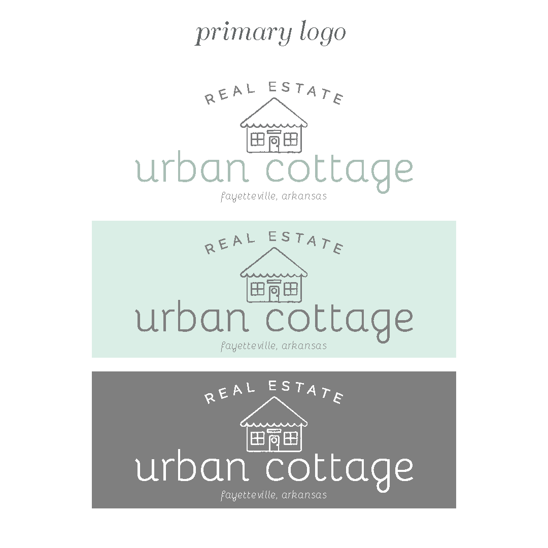 Urban Cottage Arkansas Realtor Logo and Brand Design by Kindly by Kelsea