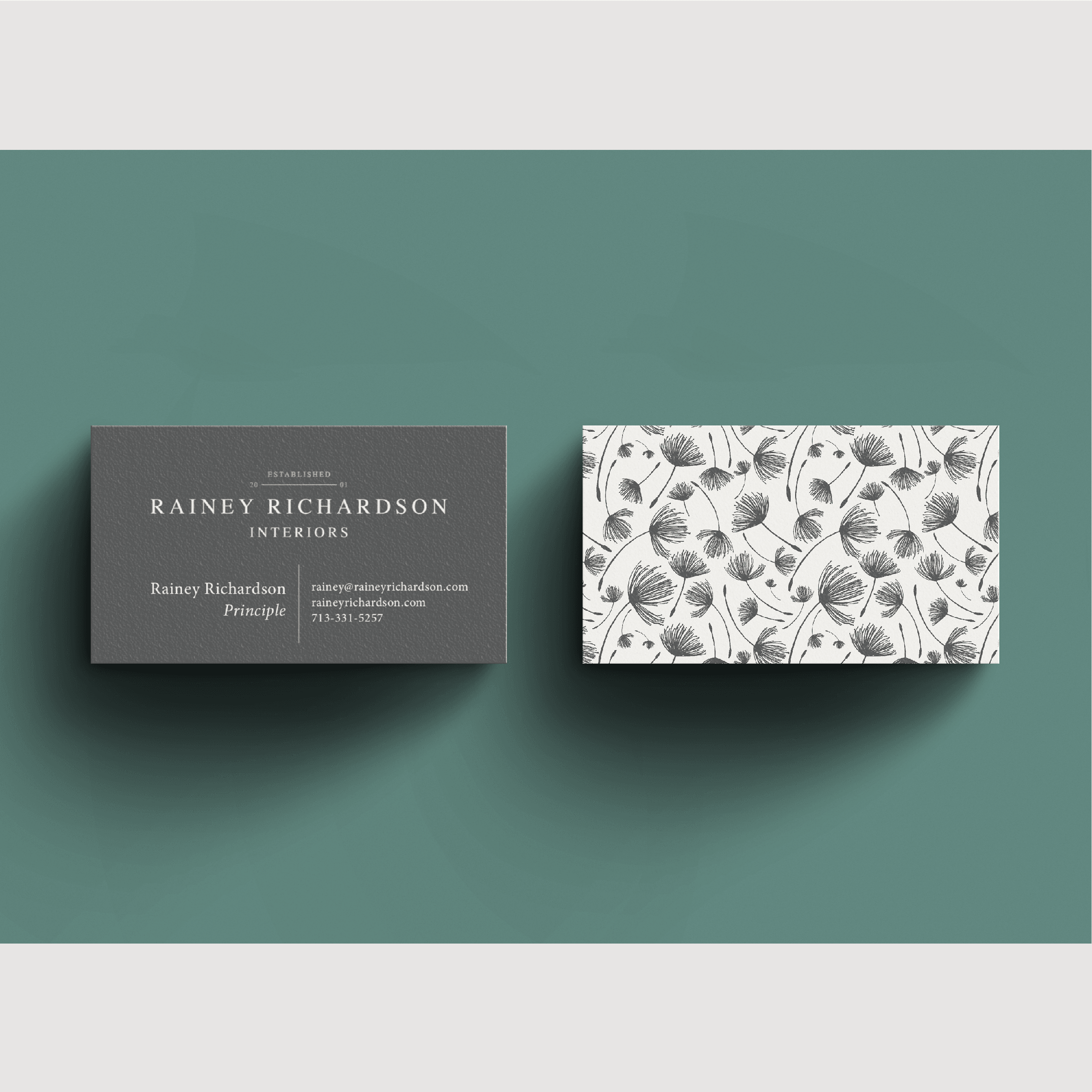 Rainey Richardson Interiors Houston Interior Designer | Logo and Business Card Design by Kindly by Kelsea