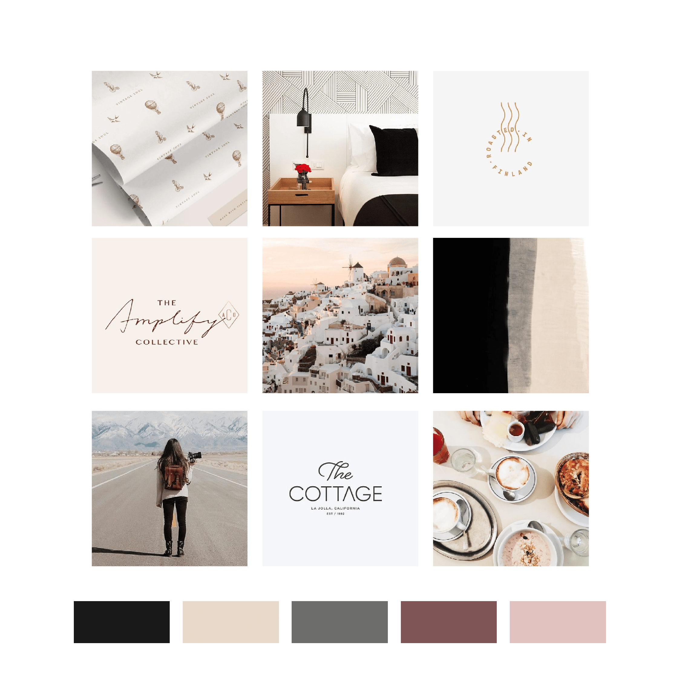 Travel Pro Theory Mood Board and Color Palette by Kindly by Kelsea