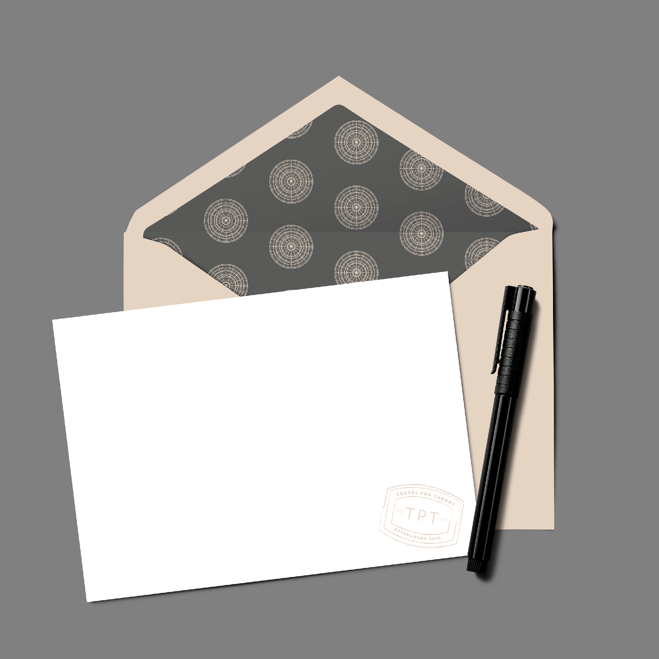 Travel Pro Theory Logo and Stationery Design by Kindly by Kelsea