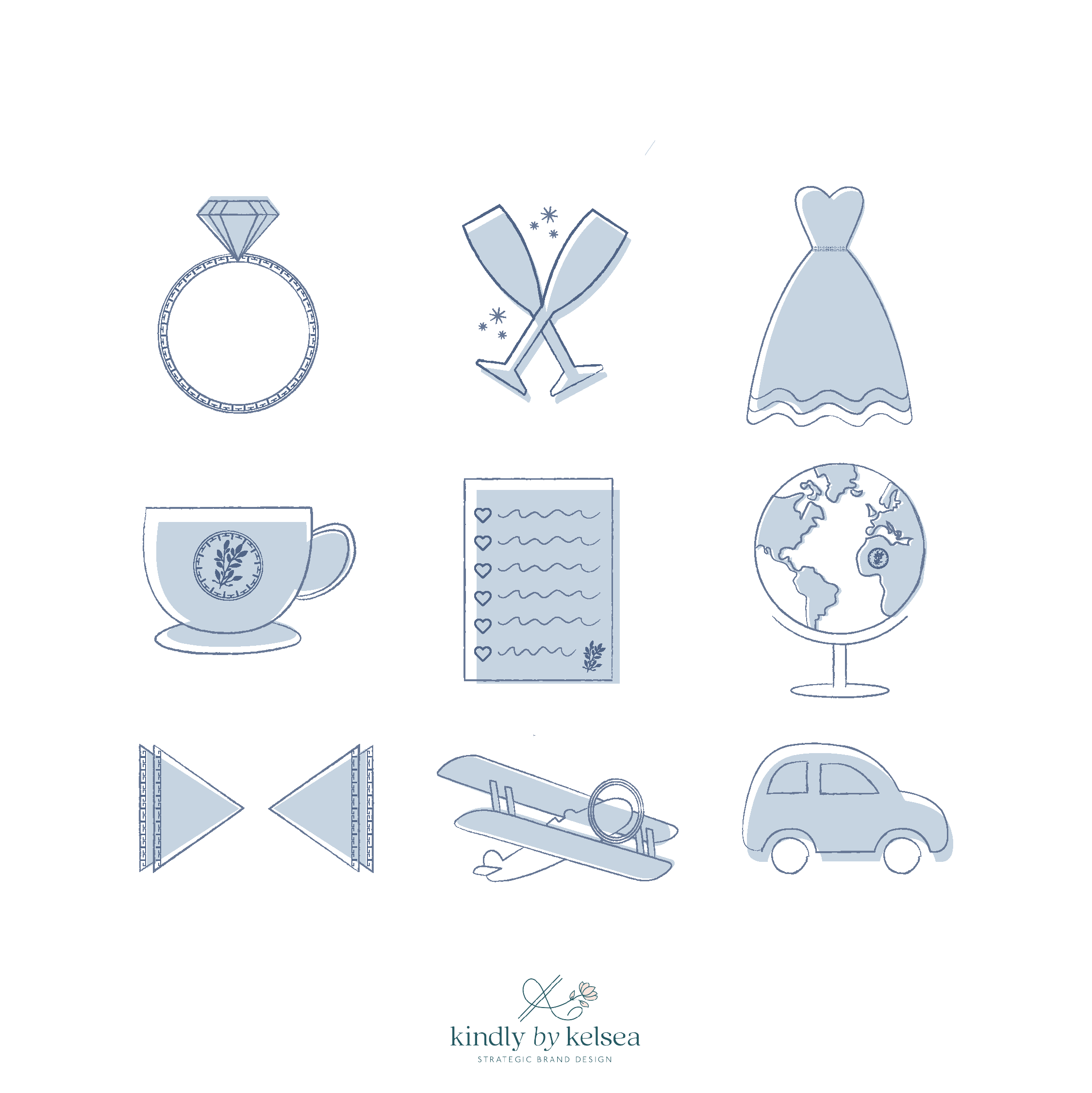 Kati Hewitt Photography Houston Wedding Photographer Logo and Icon Design by Kindly by Kelsea