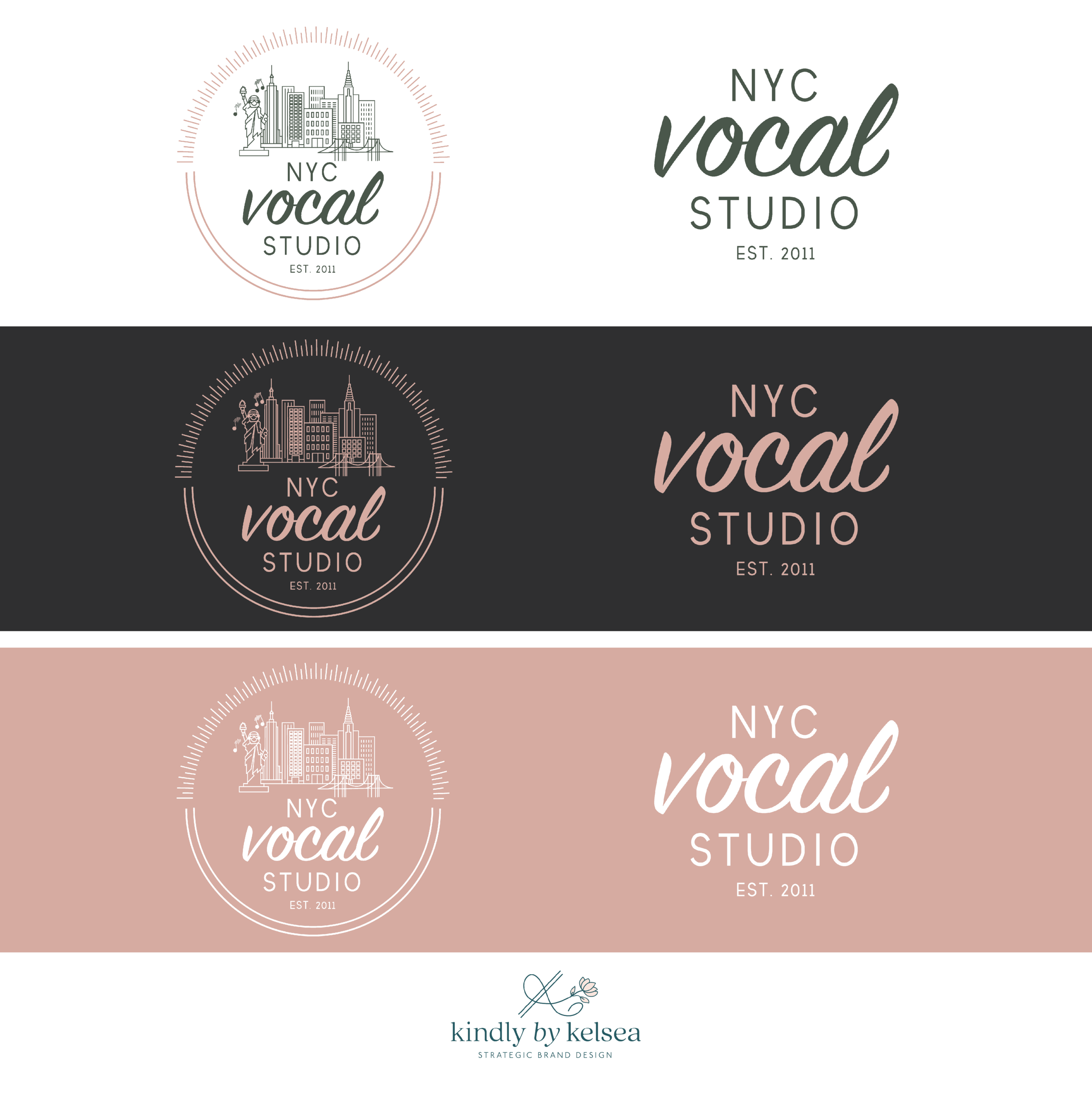 NYC Vocal Studio Manhattan Brand and Logo Design by Kindly by Kelsea