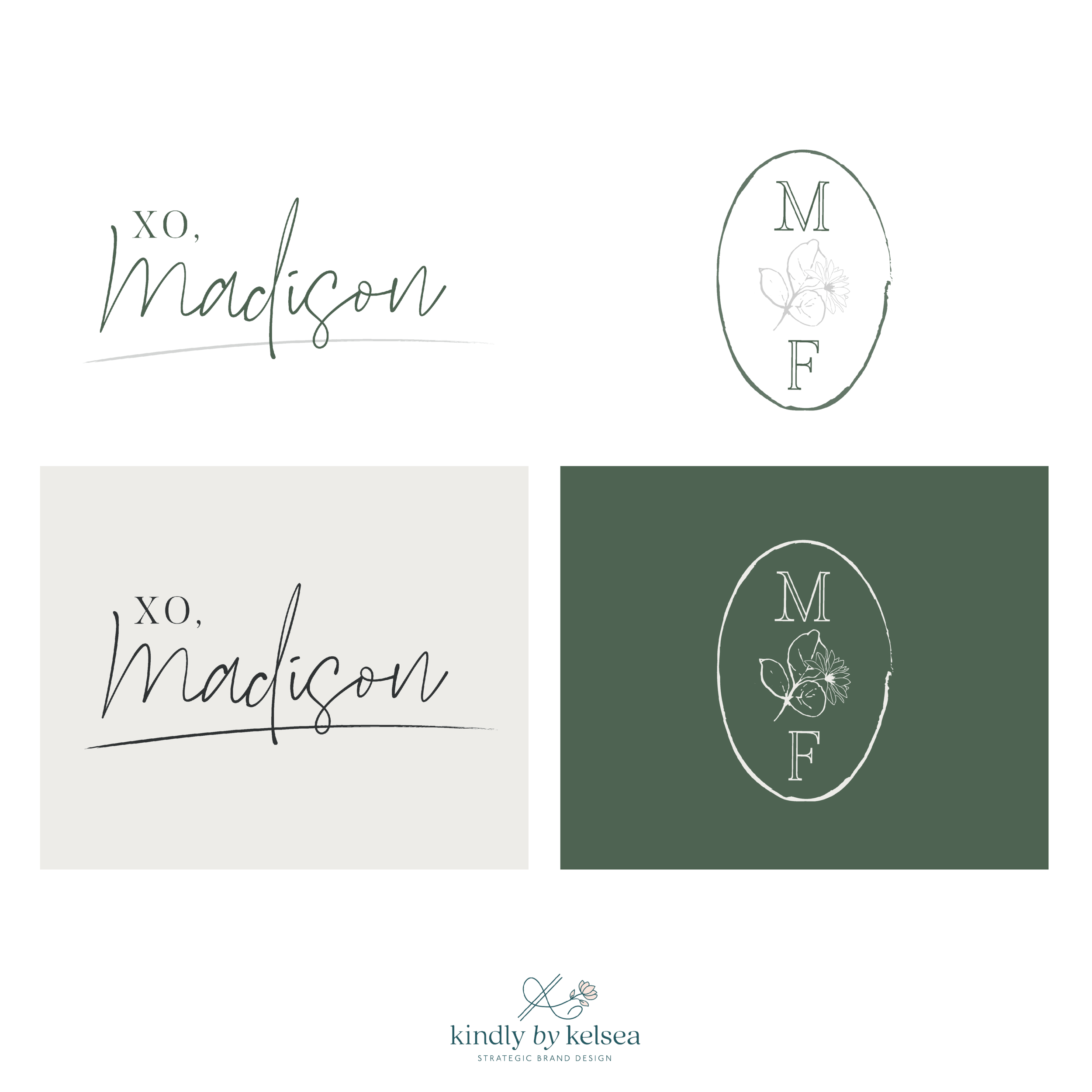 Madison Fichtl Fashion and Lifestyle Blogger Des Moines Iowa: Logo and Brand Design by Kindly by Kelsea