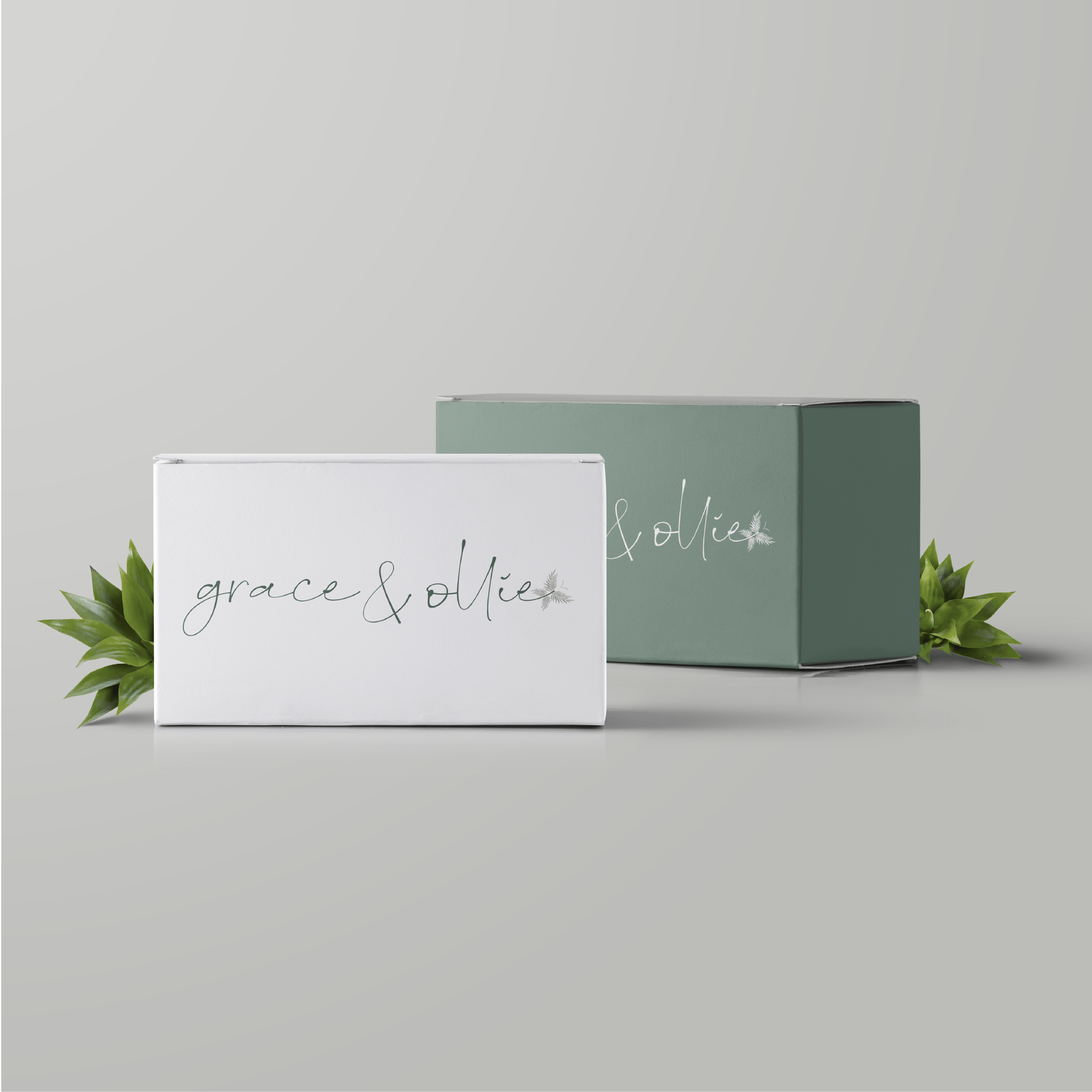 Grace and Ollie Brand and Logo Design by Kindly by Kelsea