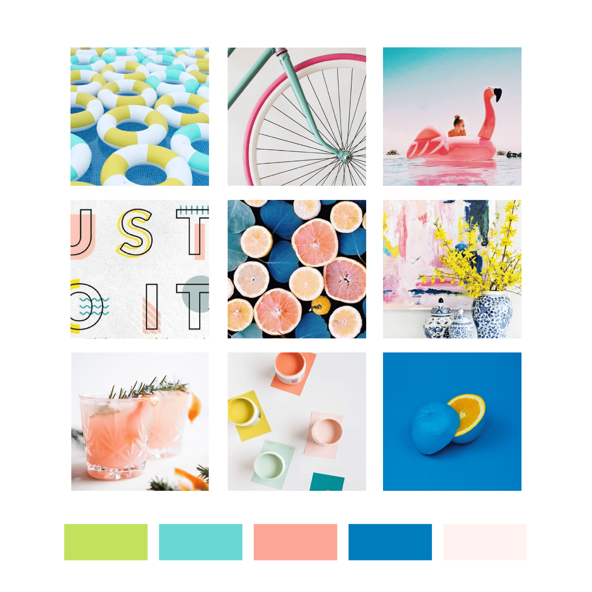 Buoyant Marketing Inbound Marketing Agency Florida Mood Board by Kindly by Kelsea