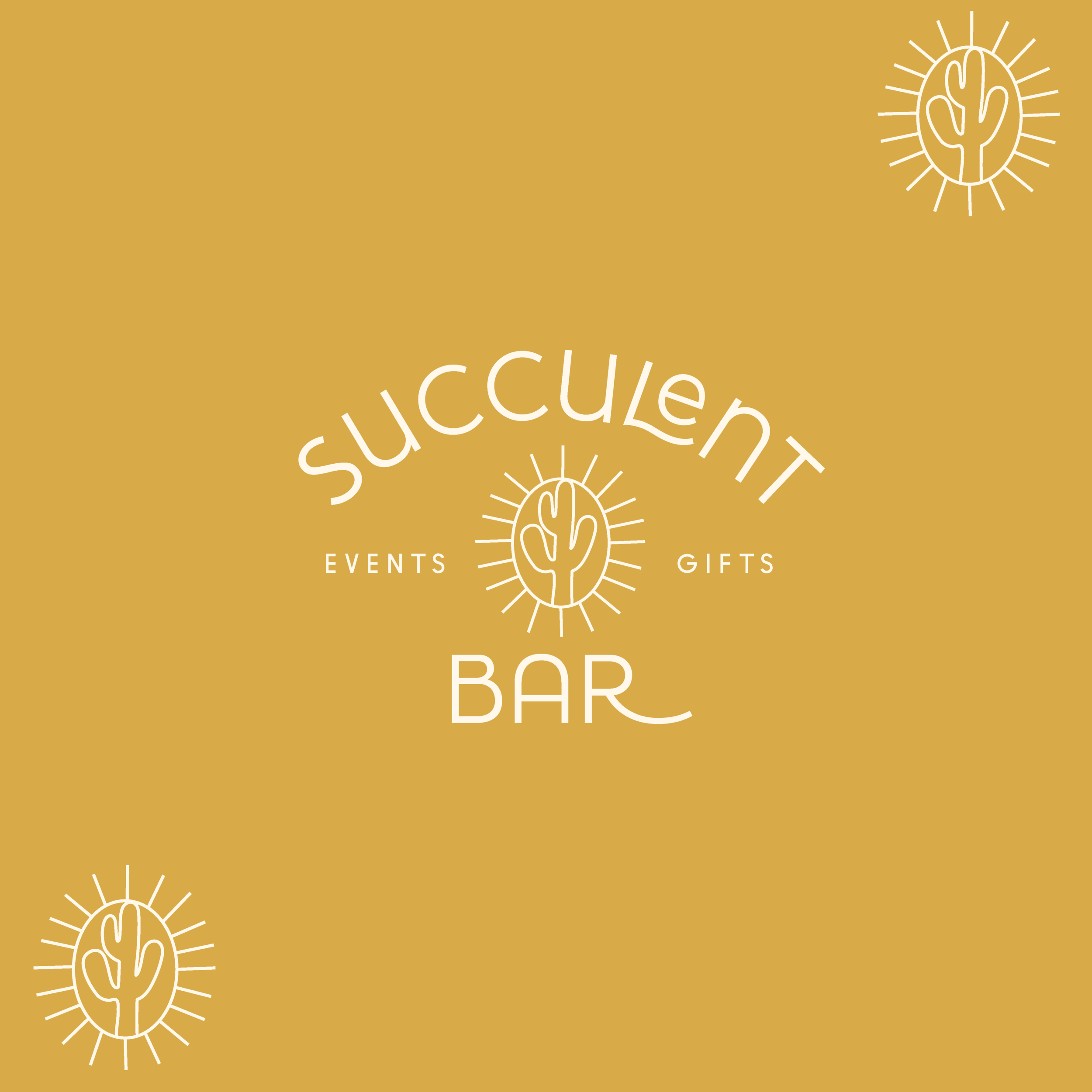 Succulent Bar Party and Event Favors Houston Texas Brand and Logo Design by Kindly by Kelsea