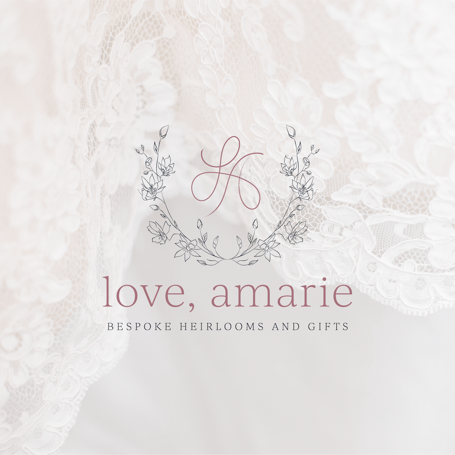 Love, Amarie Custom Handmade Wedding Clutches Brand and Logo Design by Kindly by Kelsea