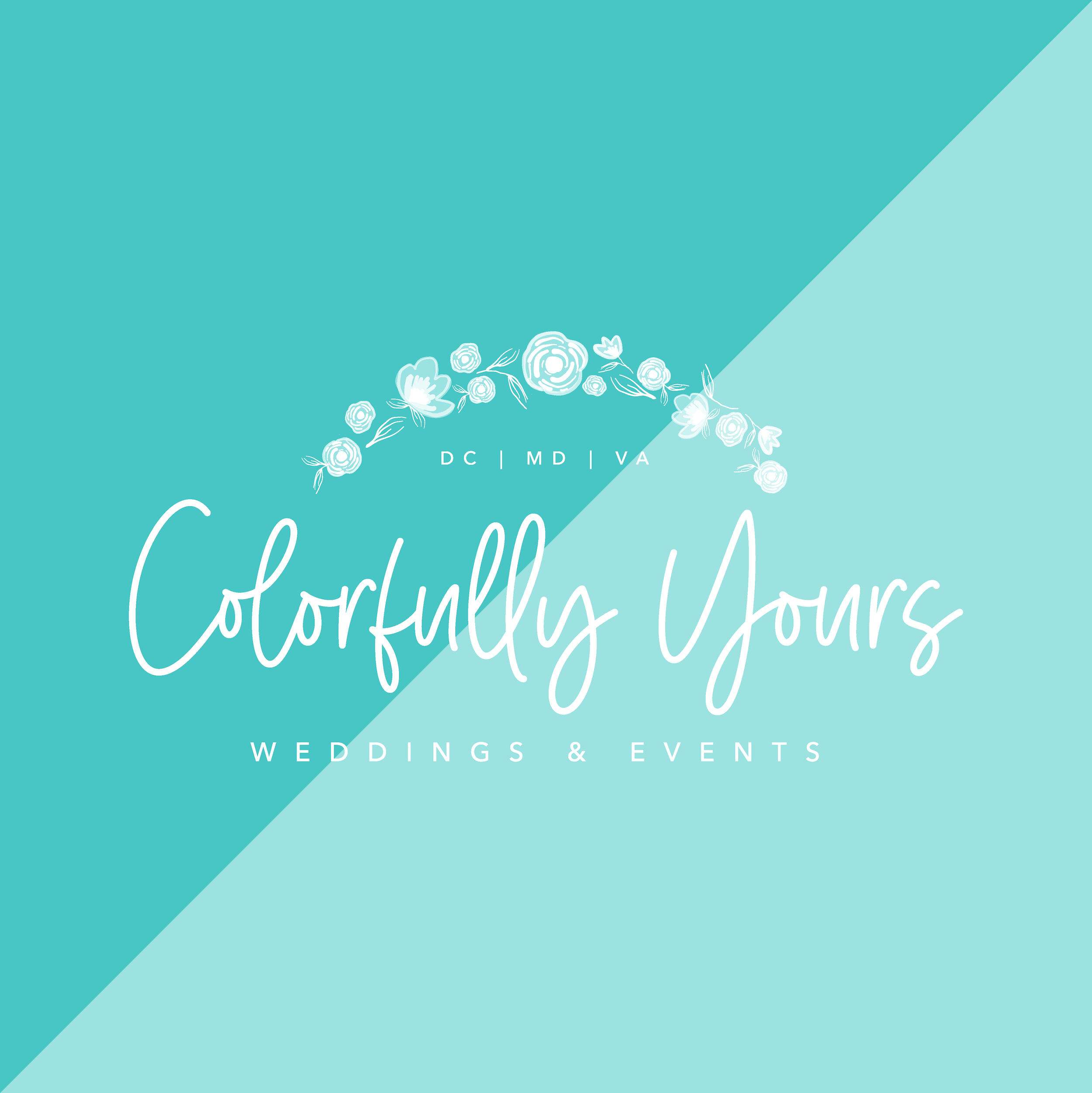 colorfully yours wedding and event planner washington dc virginia maryland brand and logo design by kindly by kelsea