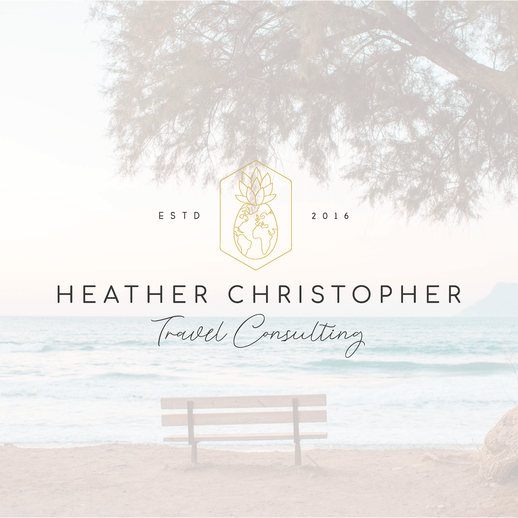 heather christopher travel consulting pennsylvania travel agent brand and logo design by kindly by kelsea