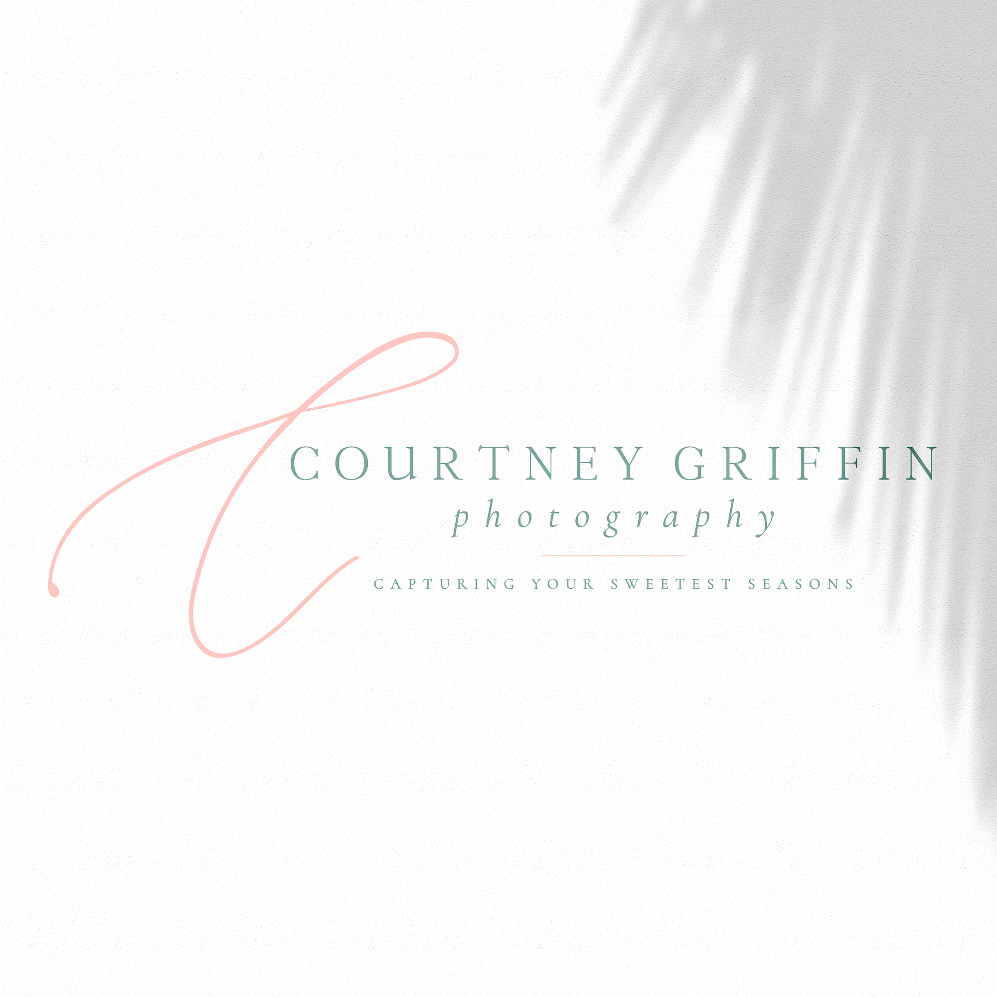 Courtney Griffin Photography Houston Lifestyle Family and Newborn Photographer brand and logo development by Kindly by Kelsea