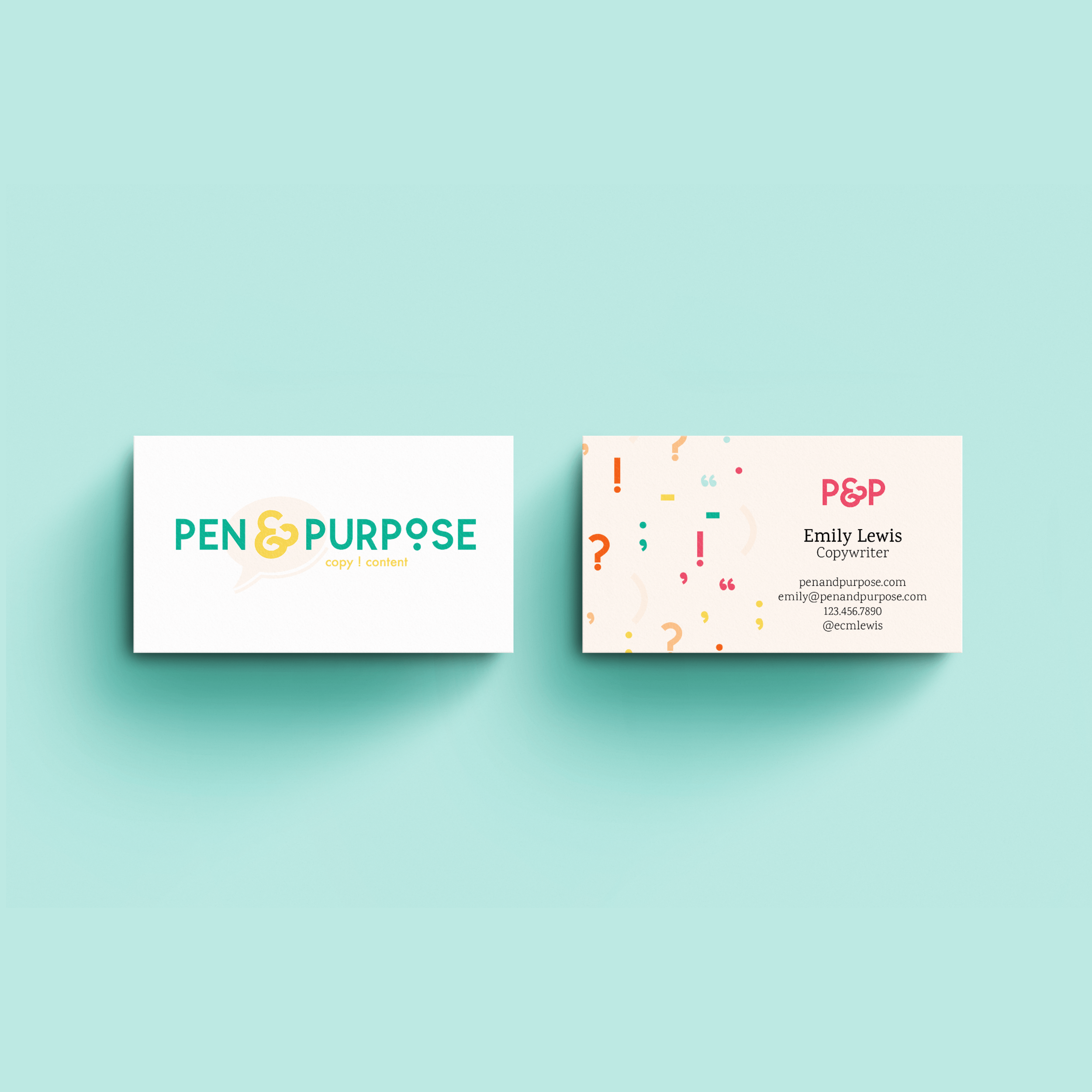 Pen and Purpose Houston Copywriter for Creatives Brand and Logo Design Kindly by Kelsea