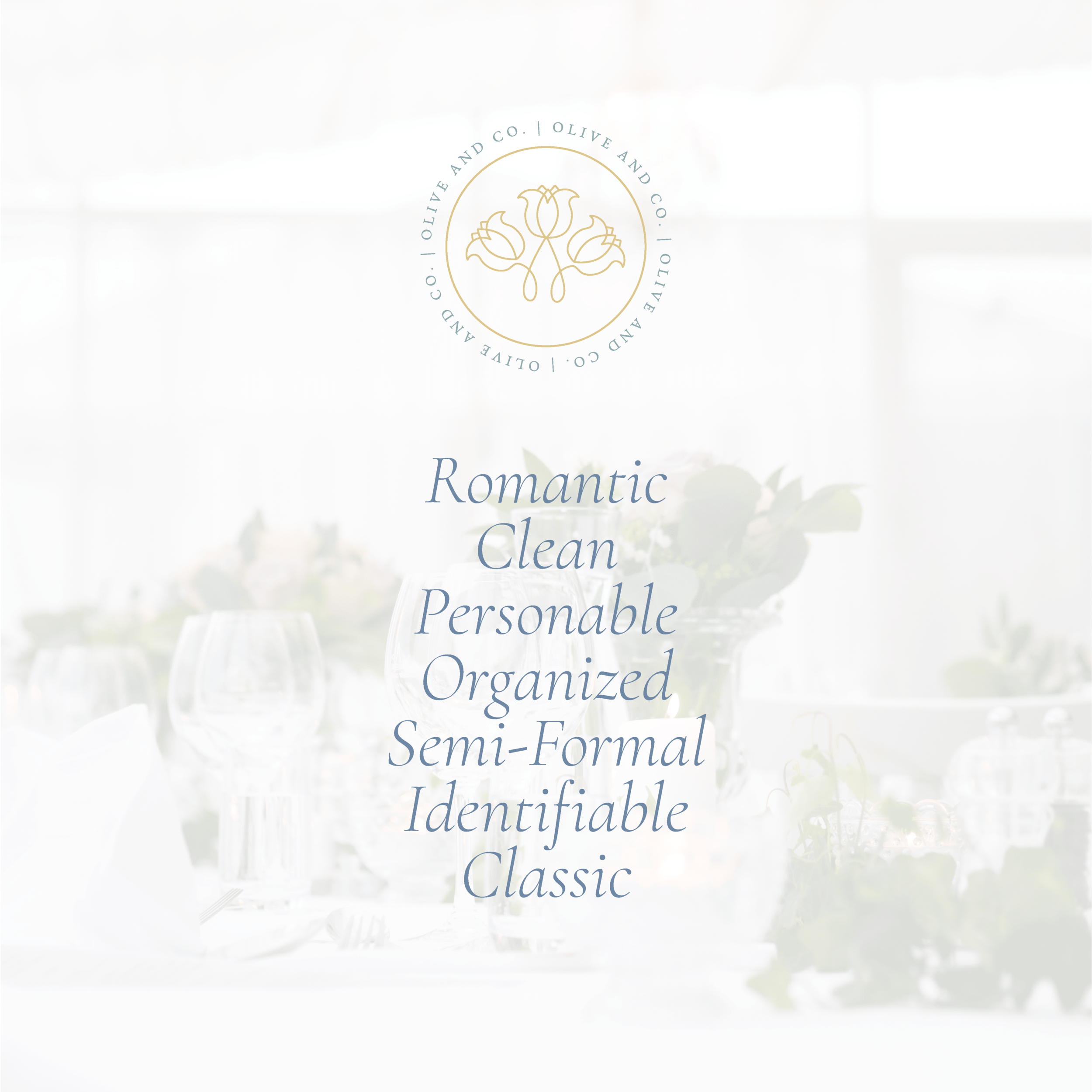 Olive and Co. Events Portland Maine Wedding Planner brand and logo design by kindly by kelsea
