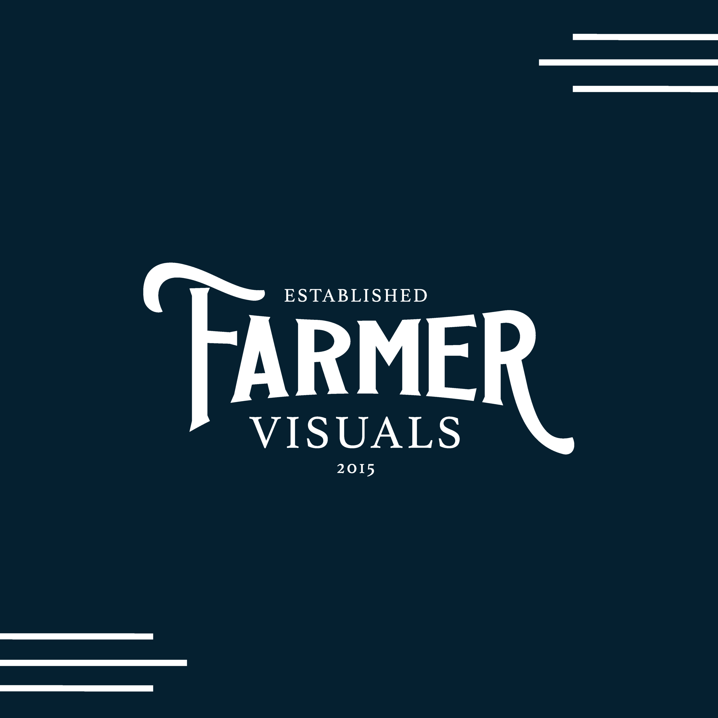 Farmer Visuals North Carolina Wedding Videographers Brand and Logo Design by Kindly by Kelsea