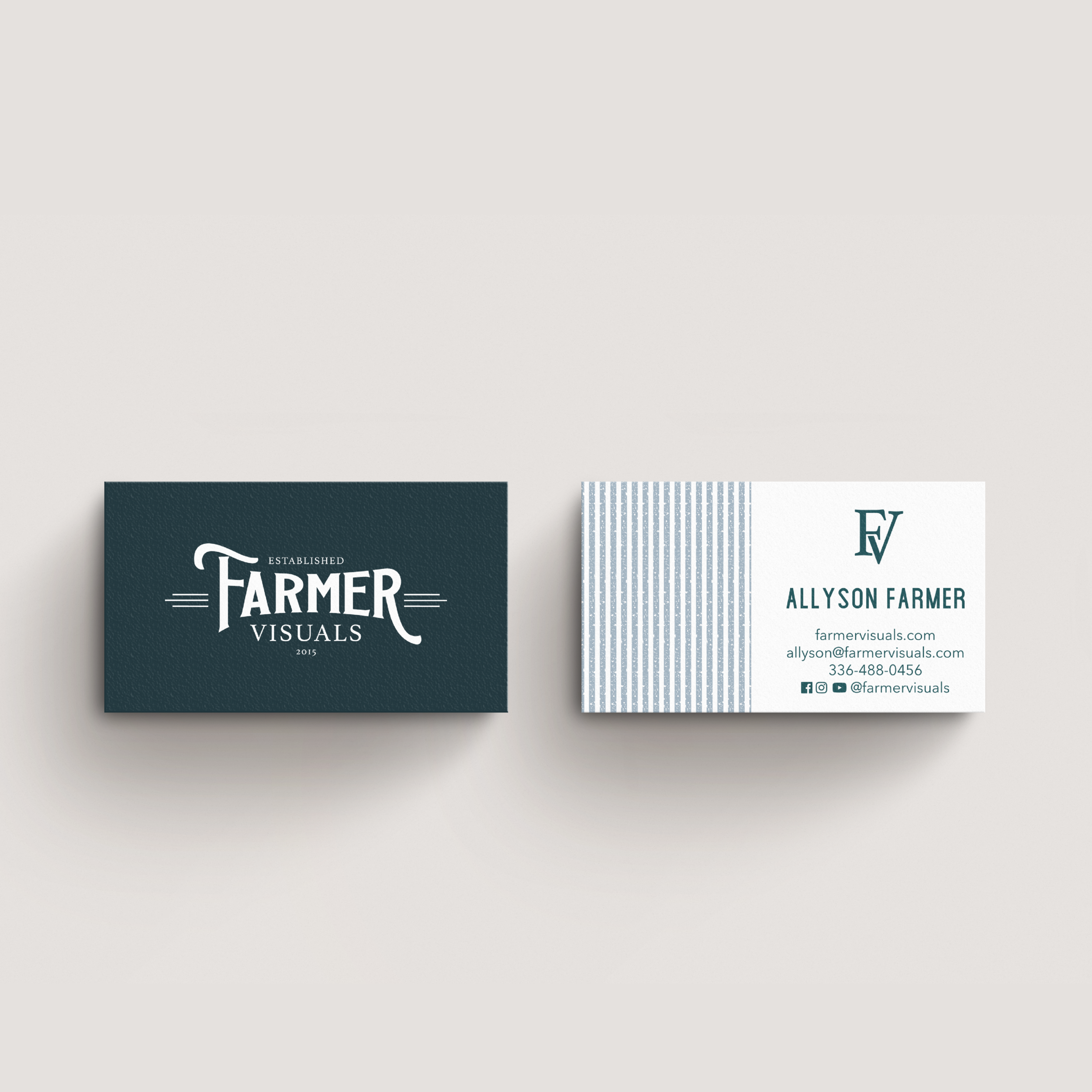 Farmer Visuals North Carolina Wedding Cinematic Videographers Brand and Logo Design by Kindly by Kelsea