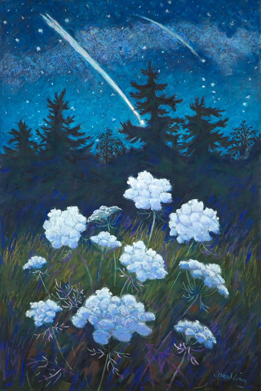 "Stargazers   Pastel with Mixed Media  11.5"" x 17.5"""