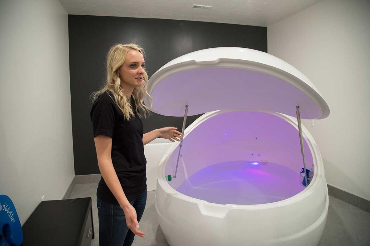 Unload stress and relax in Zivel Floats and Massage float pods. (Click above image for story)  By AMANDA PUSH Hub Staff Writer