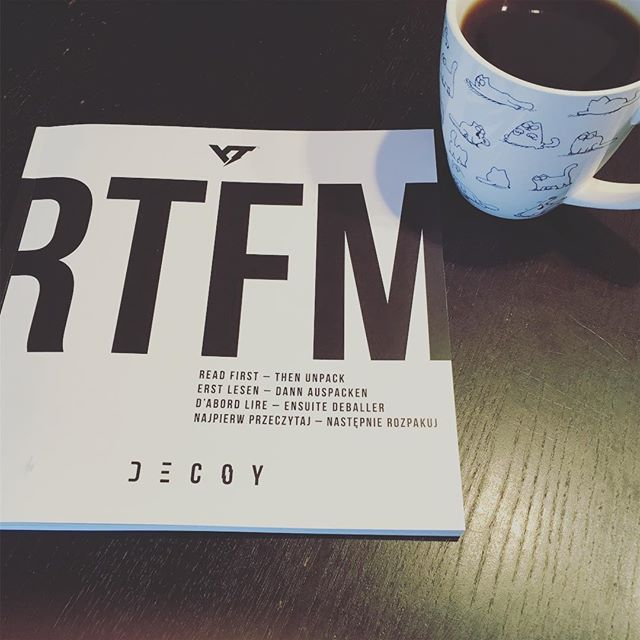 #readthefuckingmanual #rtfm #ytdecoy #happysaturday