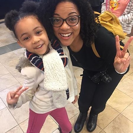 Here's Dania with one of her little guests at here at #awitchallengedc