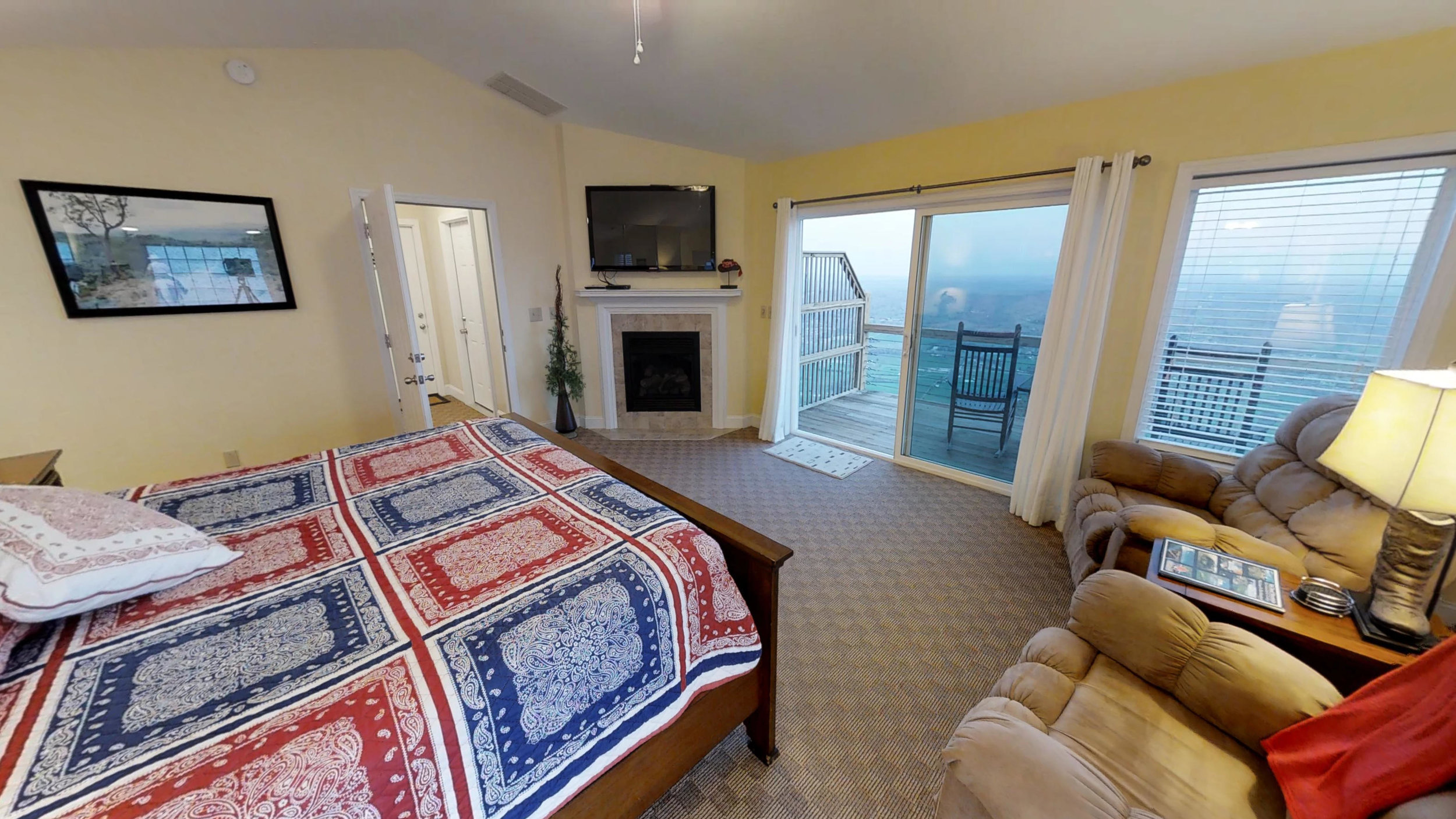 Cowboy - Penthouse suite, up 1 flight of stairs: $195 $195/night + tax based on 2 night min*Additional charge for holidays, peak weekends, and 1 night staysClick picture for virtual tour